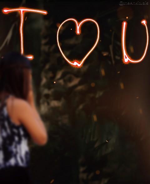 I Love You Editing Backgroun