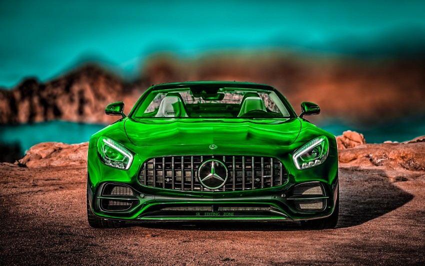 Green Car CB Background HD G