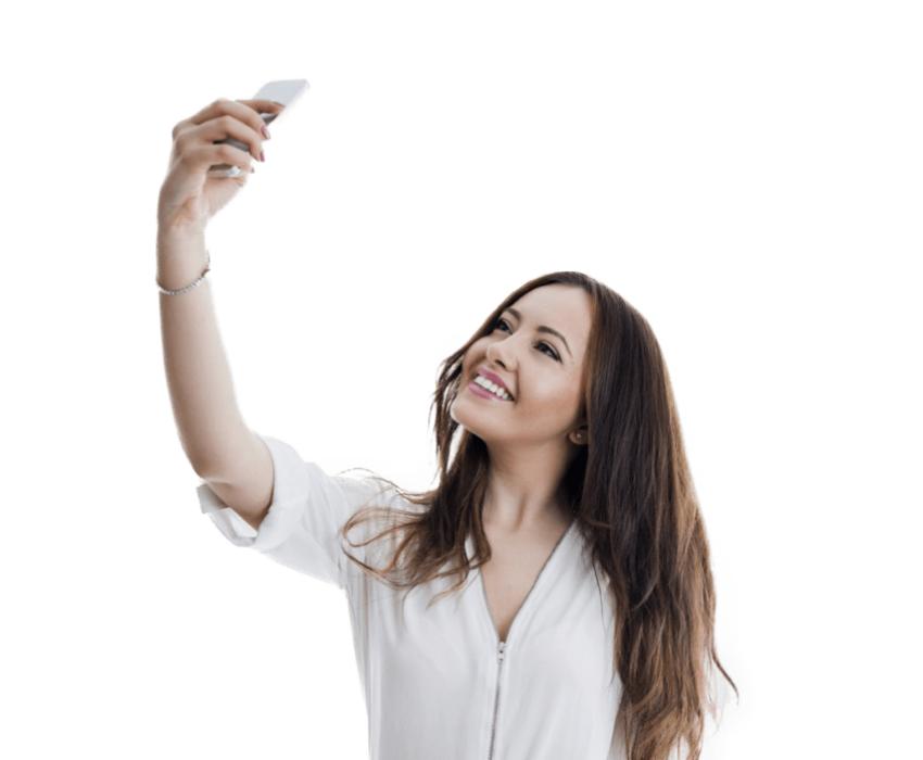 selfie Girl PNG for Editing