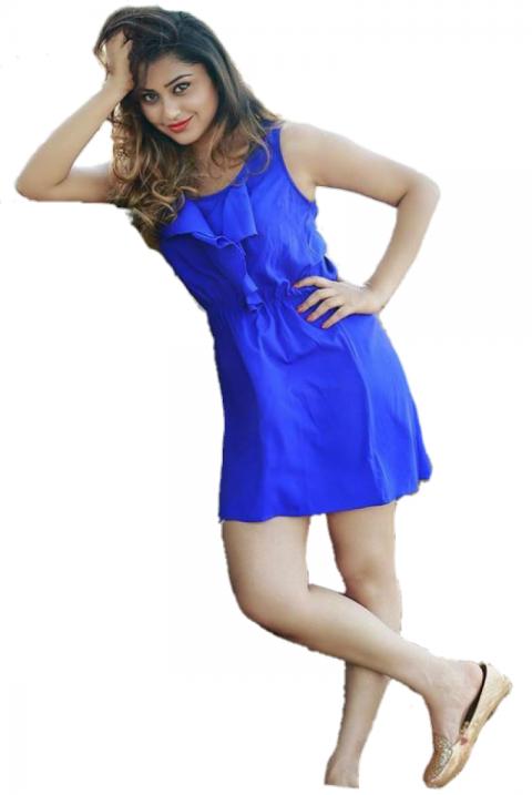Girl png HD Blue