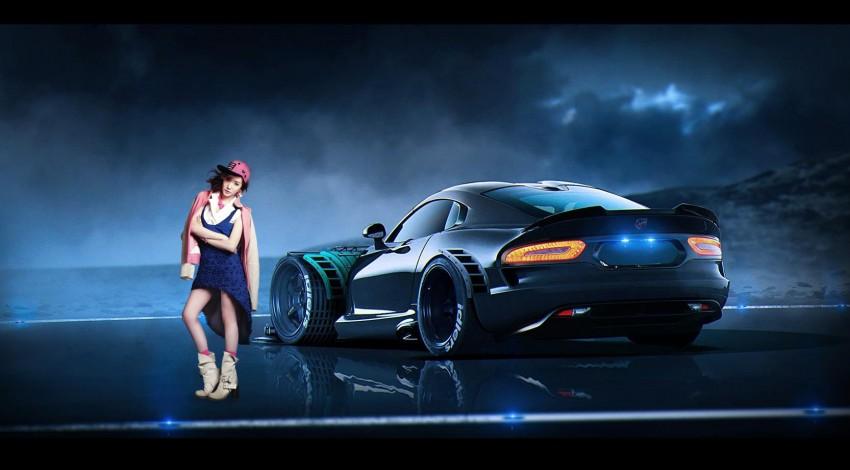 Girl Car Manipulation Editin