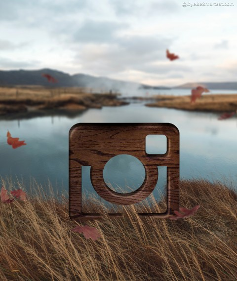Instagram Viral Editing Background Wooden Block