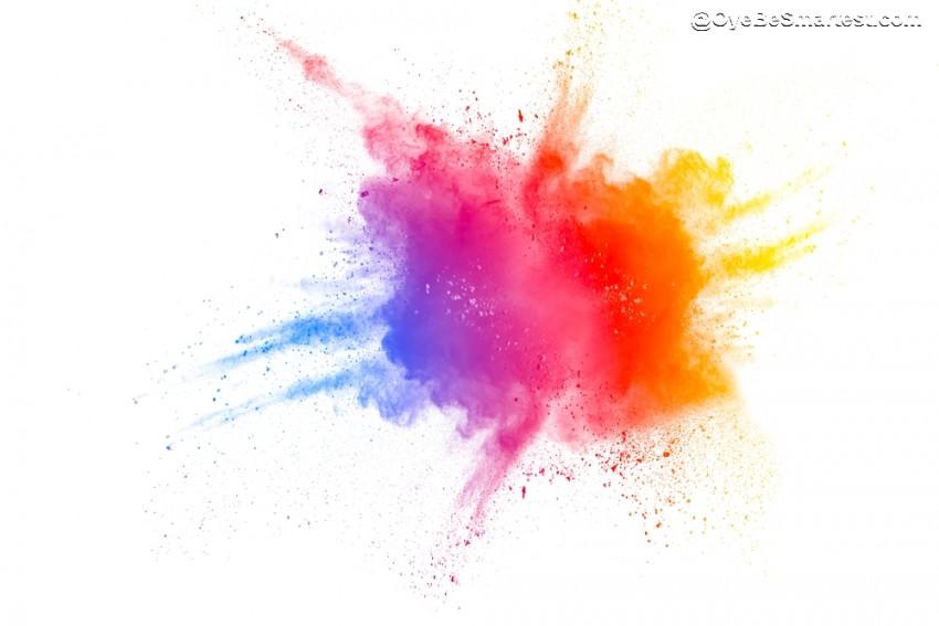 color explosion Holi Picsart