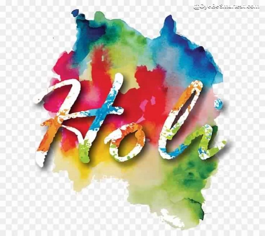 Holi Text Background PNG CB HD