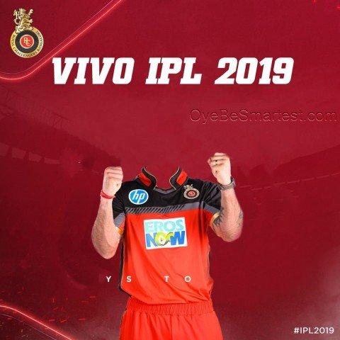 IPL RCB Tshirt Editing Backg