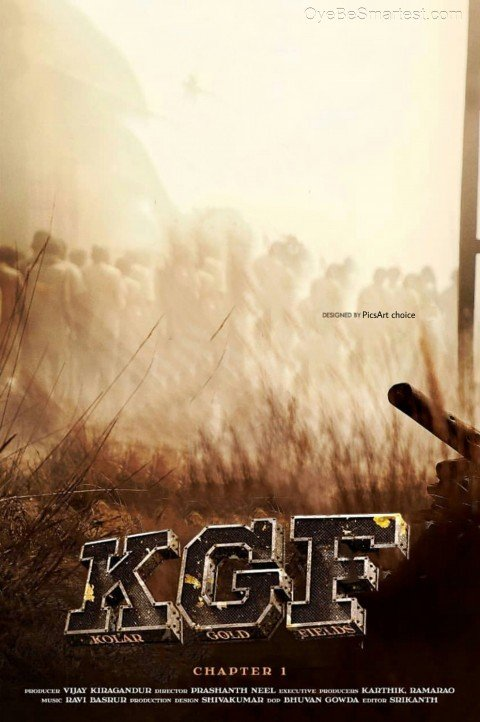 KGF Movie Poster Editing Bac