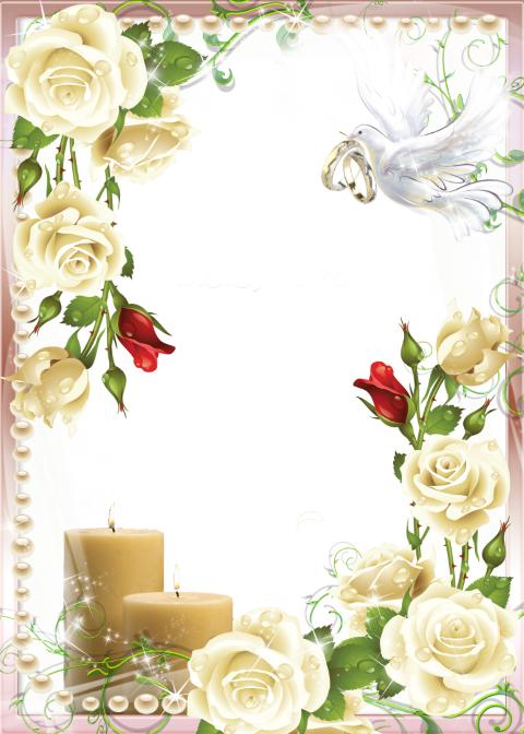 Wedding Flower frame PNG HD