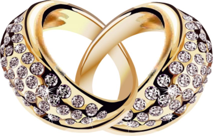 Wedding Gem Ring Clipart PNG