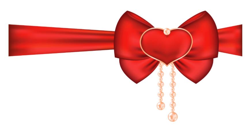 Happy valentines day ribbon