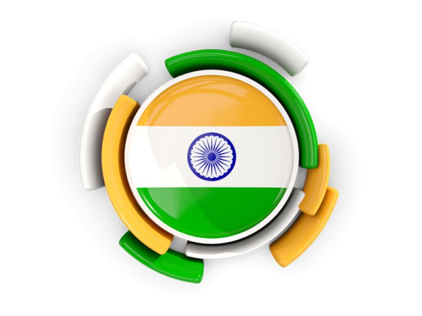 cirular shaped Indian Flag P