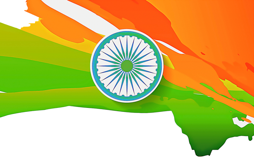 Indian Map Indian Flag PNG T