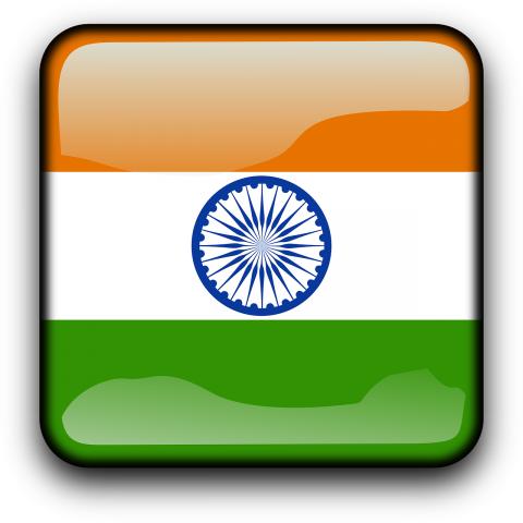 Rectangular Indian Flag PNG