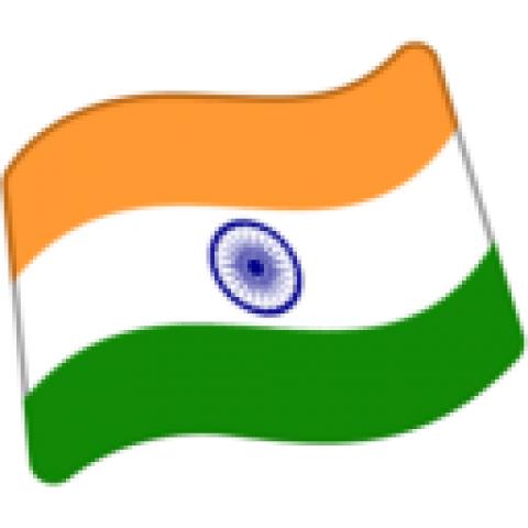 short Indian Flag PNG Transp