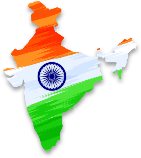 map of independent india 15