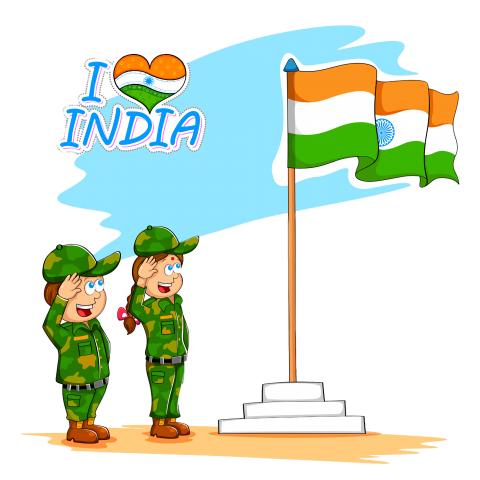 defence jawans -flag-of-indi