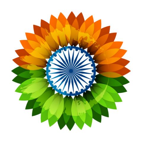 sunflower-flag-of-india-down