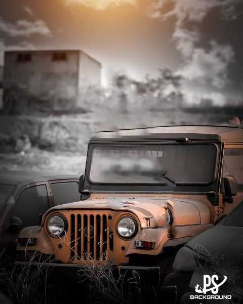 Vintage Car Jeep Editing PicsArt Background HD 05