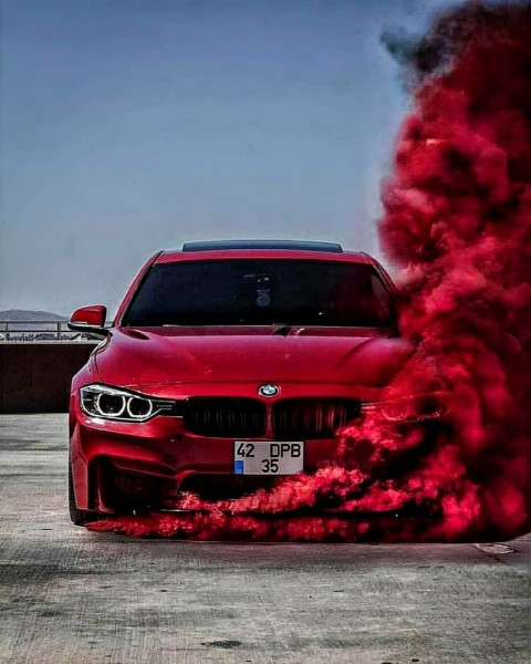 red Car Editing PicsArt Back
