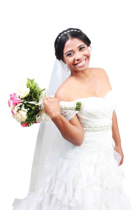 Wedding Girl Woman holding F
