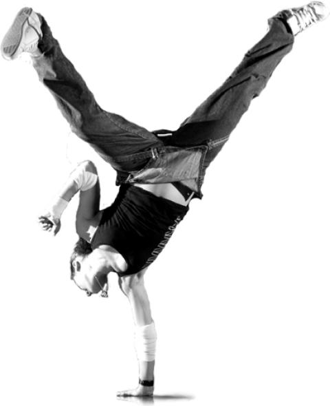 Dancing B Boying Stunt Boy D