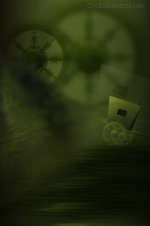 Dark Green Photo Studio Back