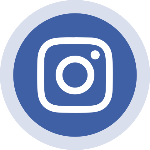 3D Instagram  Blue Circled Instagram Logo Icon PNG Vector HD