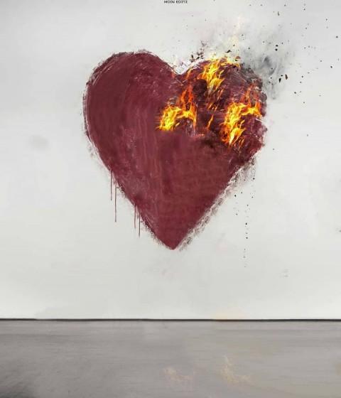 Viral Instagram Editing BACKGROUND Burning Heart Editing Background Heart Broken HD PicsArt Love Manipulation