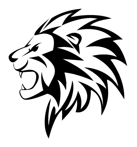 Lion Head Tattoo PNG Vector