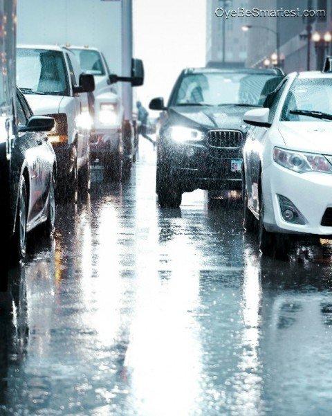 PicsArt Raining Car Editing