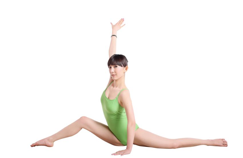 Girl Dancing Yoga PNG HD