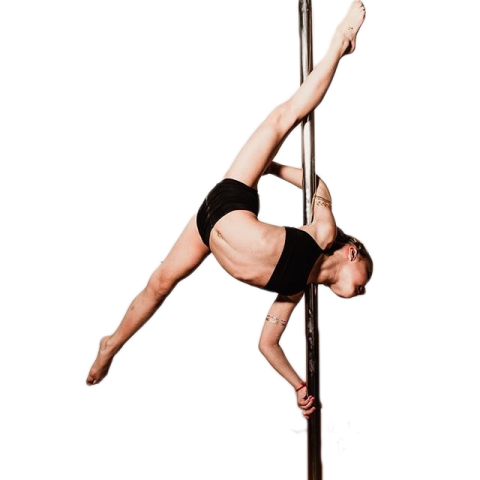 Pole Dancing Girl Lady PNG H
