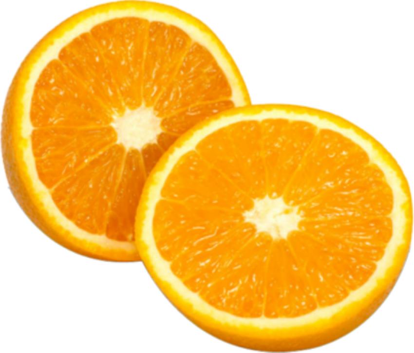 Cut Orange PNG Vector Image