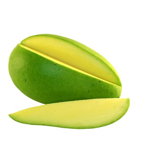Green Raw Mango Piece PNG HD