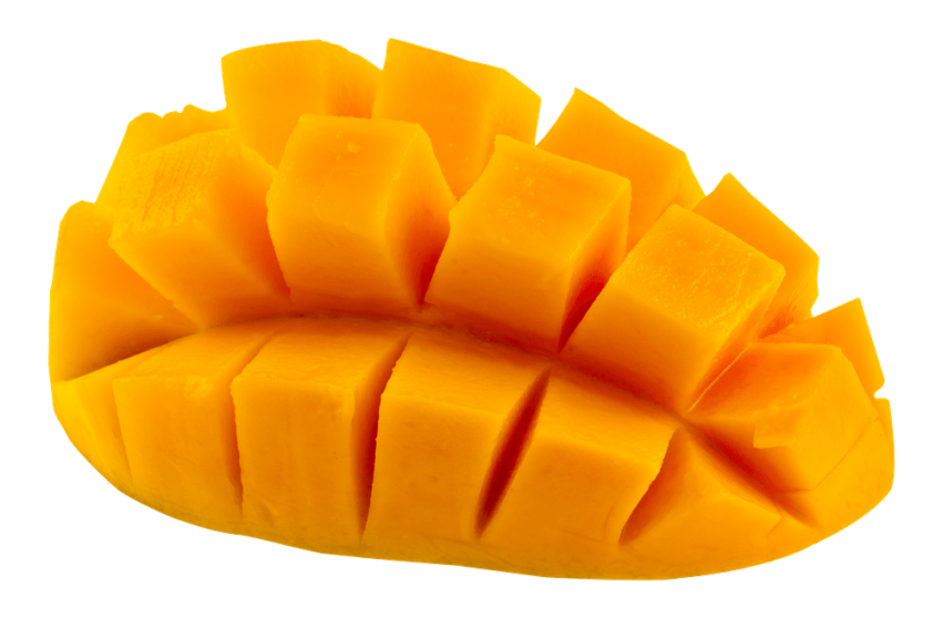 Sliced Mango Pieces PNG Vector PNG (1)