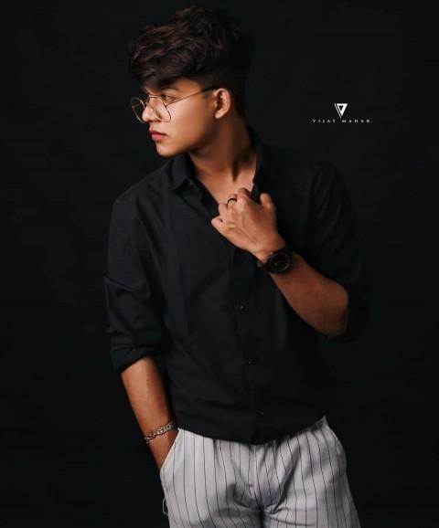 Riyaz.14 Riyaz Aly Model dark Black Photo download DP riyaz.14 tiktok06