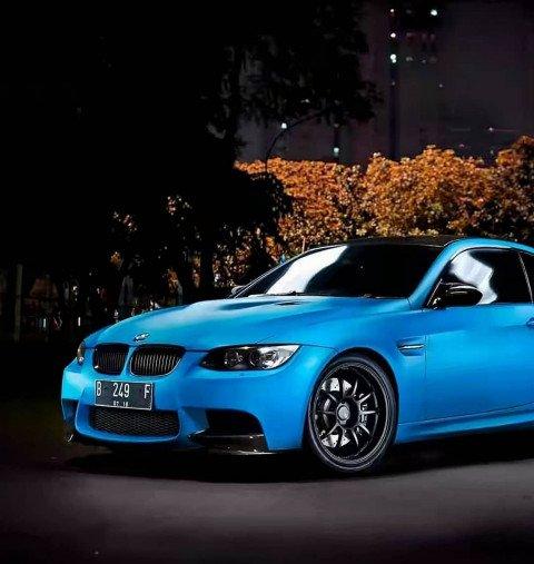 Blue Car - PicsArt Editing B
