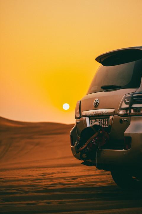 Car Dusk Sunny PicsArt Editi
