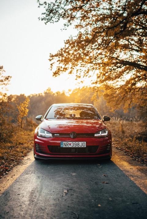 Car Red PicsArt Editing Back