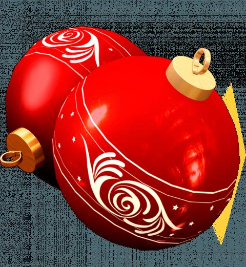 Red Balls Ornament Merry Chr