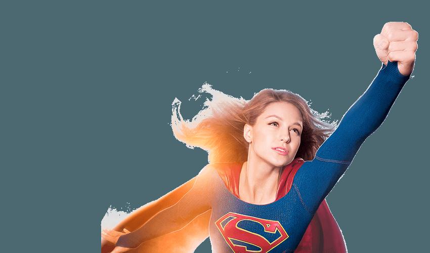 Flying Supergirl PNG HD Imag