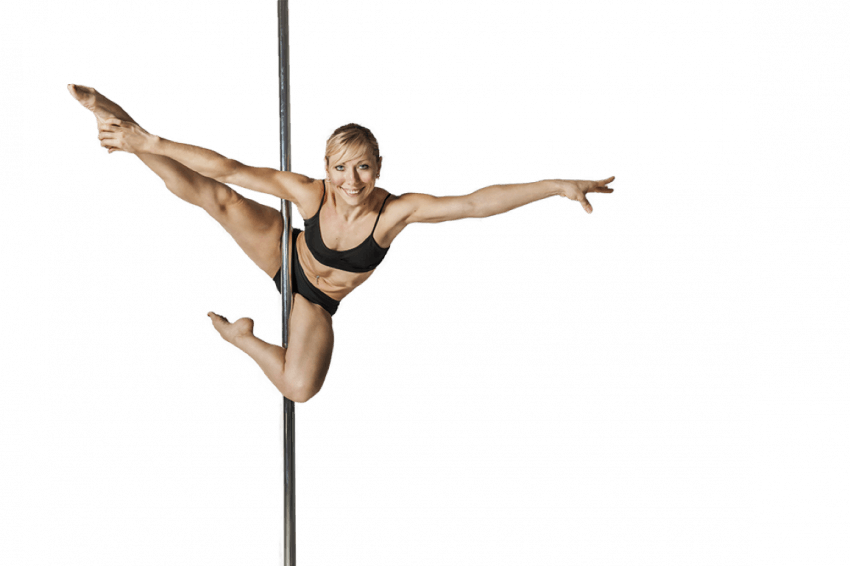 Girl Pole Dance Lady PNG  (1