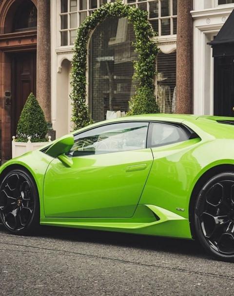 Green Car Editing Background