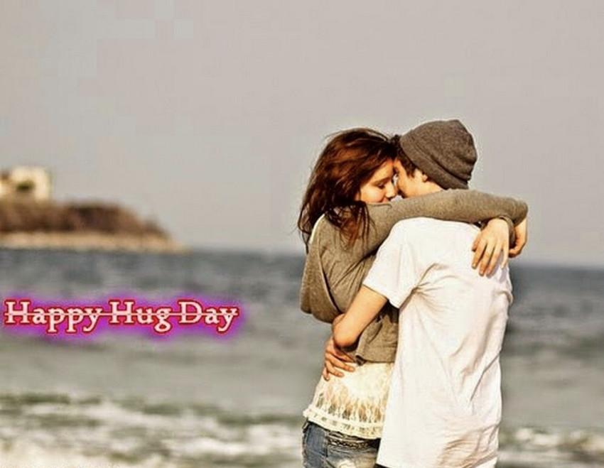 Happy Hug Day Wish- Romantic