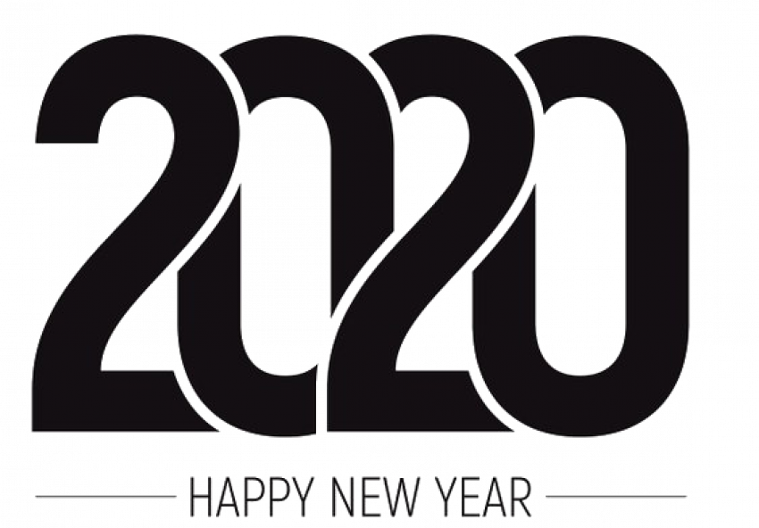 ⚡Happy New Year 2020 Text PNG HD Vector (4)   PNG image ...