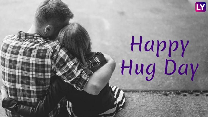 Happy Hug Day for Couple - W