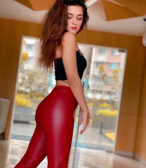 Avneet Kaur Red Leggings HD