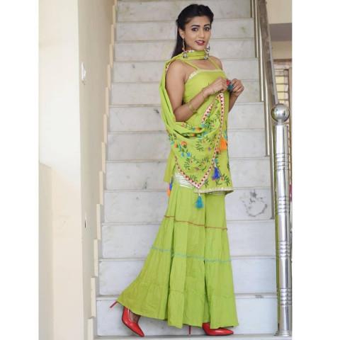 Gima Ashi Green Dress Bahot