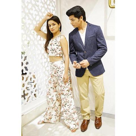 Avneet Kaur with Siddharth N