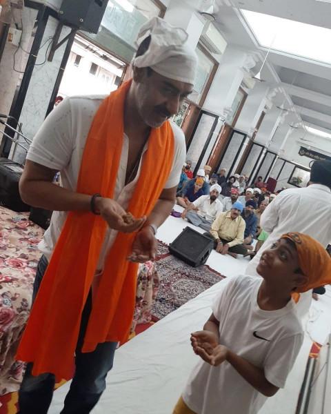 Ajay Devgn with Son Yug devg