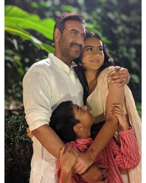 Ajay Devgn family with Yug
